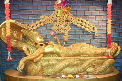 Lord Vishnu as Padmanabhaswamy in reclining posture