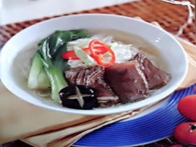 Gambar Resep Mie Kwetiau Daging Sapi Oriental Dan Resep Misoa Kuah Oriental Daging Panggang