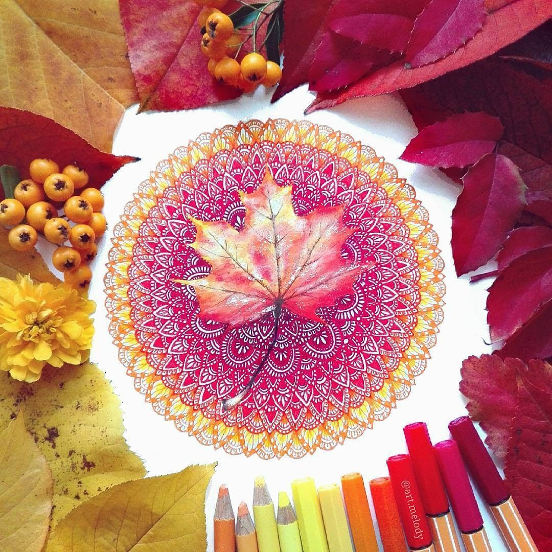 04-Autumn-Gyöngyi-Szabó-Bright-and-Colorful-Mandala-Drawings-www-designstack-co