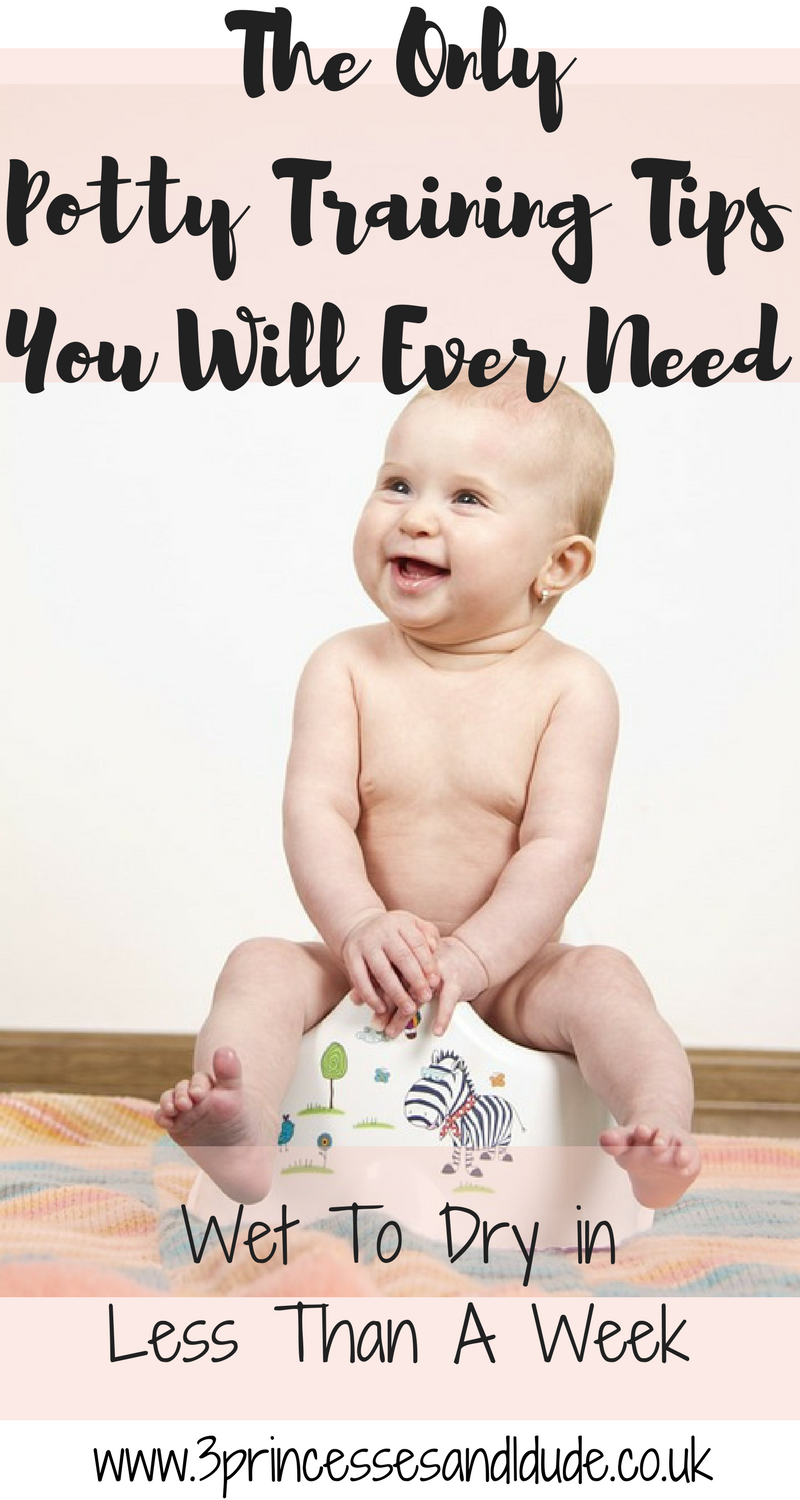 The only potty training tips you will ever need, 100% success rate AND try day and night in less than a week!