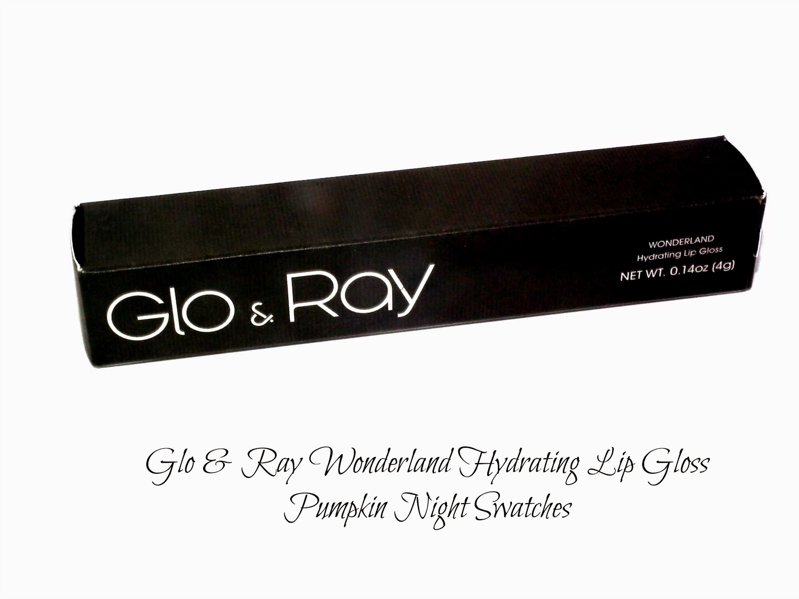 Glo & Ray Wonderland Hydrating Lip Gloss Pumpkin Night Swatches