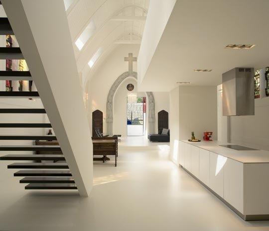 Church conversion to chic private home