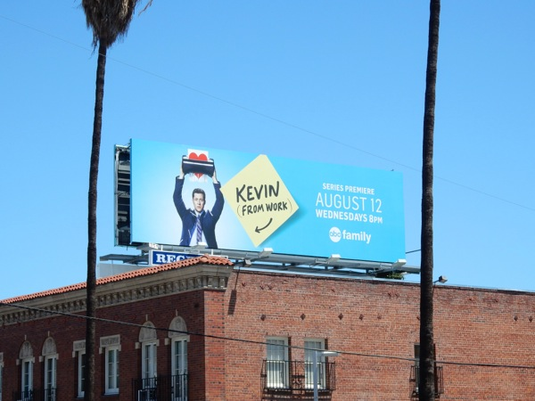 Kevin from Work ABC Family billboard