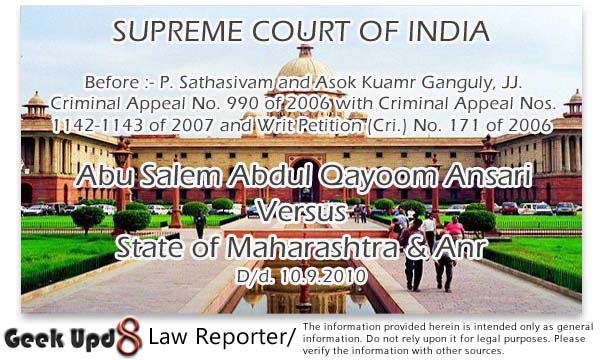 Hyderabad bomb blast 2013 : Yet Another Story of Terrorism in India like Others in past - Supreme Court