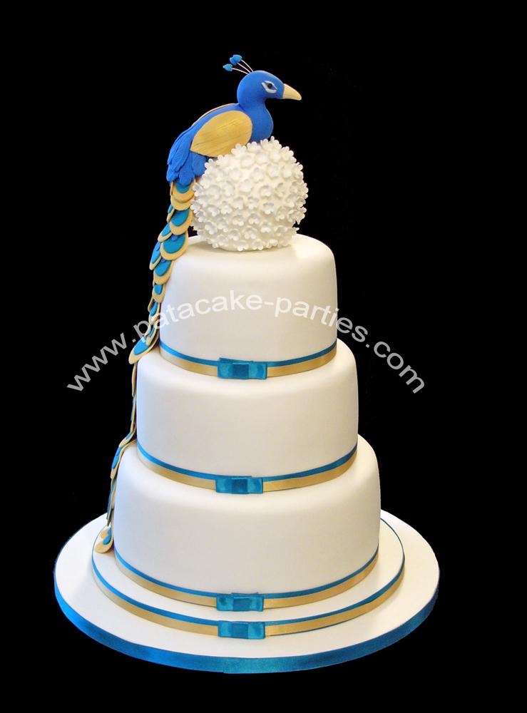 Pat A Cake Parties Peacock Wedding Cake