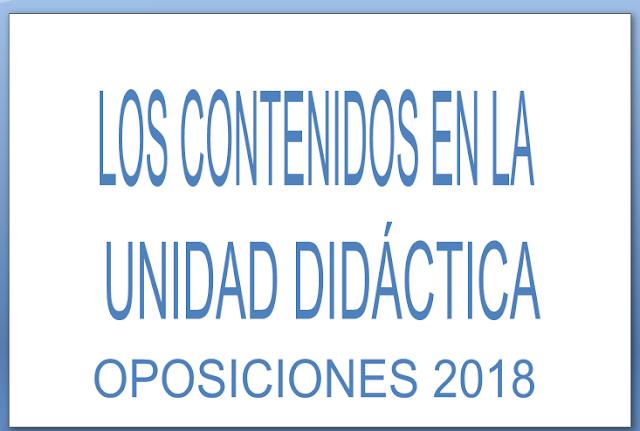 CONTENIDOS UNIDAD DIDÁCTICA OPOSICIONES SECUNDARIA 20