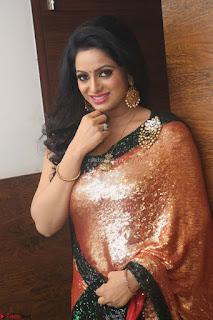 Udaya Bhanu lookssizzling in a Saree Choli at Gautam Nanda music launchi ~ Exclusive Celebrities Galleries 071.JPG