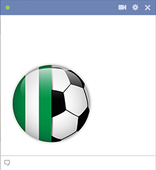 Nigeria football emoticon