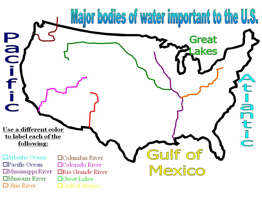 Mrs peters us history blog january 2018 bodies of waterrivers quiz review games gumiabroncs Image collections