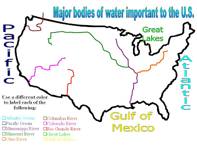 Mrs Peters US History Blog Bodies Of WaterRivers Quiz Review - Us rivers map quiz