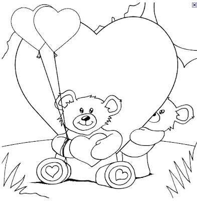 coloring pages teddy bear holding roses | Roses Love You Coloring Pages – Colorings.net