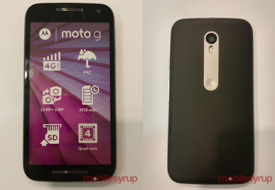 Moto G 3rd Generation Will be IPx7 water resistant