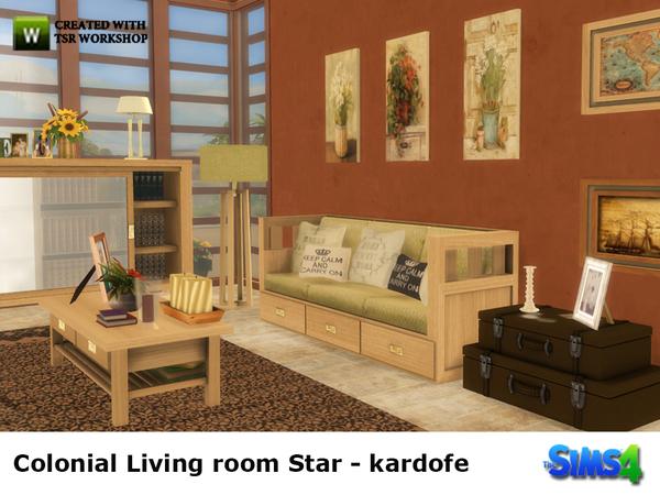 My Sims 4 Blog Colonial Living Room Set By Kardofe