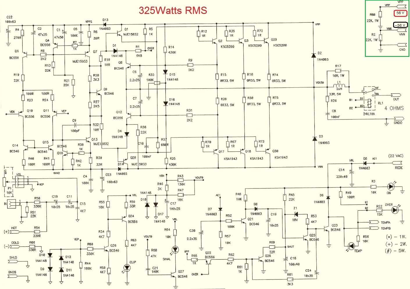 Electro help: Power amplifier circuits - 100W - 200W and ...