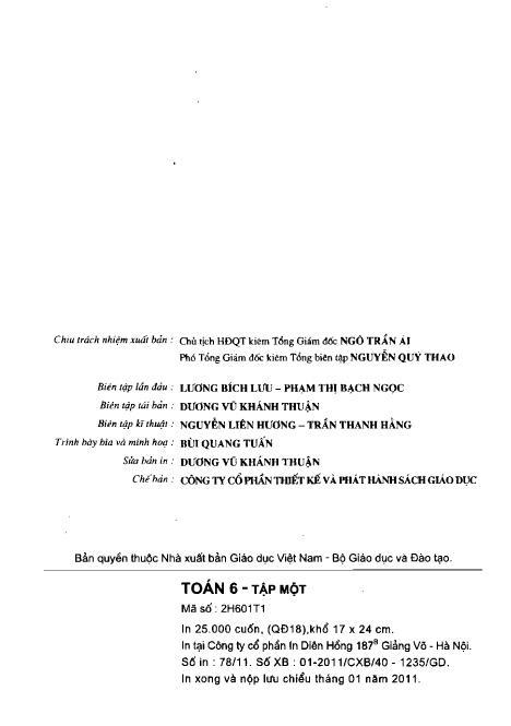 Trang 3 sach Sách giáo khoa Toán 6 Tập 1