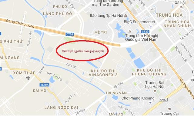 Vị trí dự án mới của Vingroup trên trục đường đại lộ Thăng Long