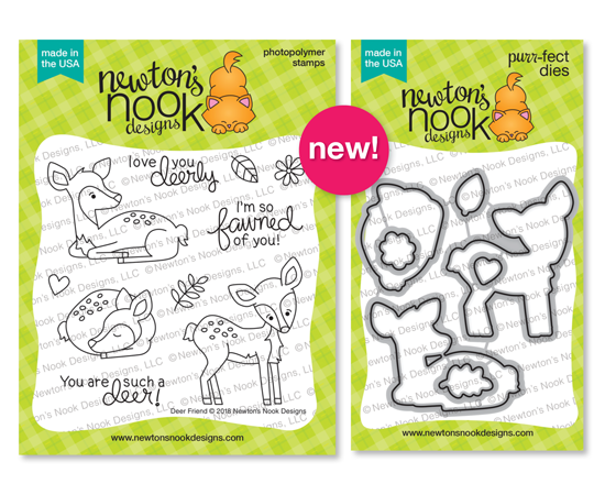 Deer Friend | Fawn themed Stamp Set and die set by Newton's Nook Designs #newtonsnook
