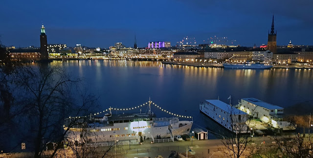 Vistas desde Monteliusvägen, Estocolmo, Suecia