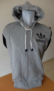 Men Jacket Adidas Grey
