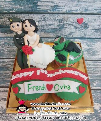 Cupcake Tema Tentara Untuk Anniversary