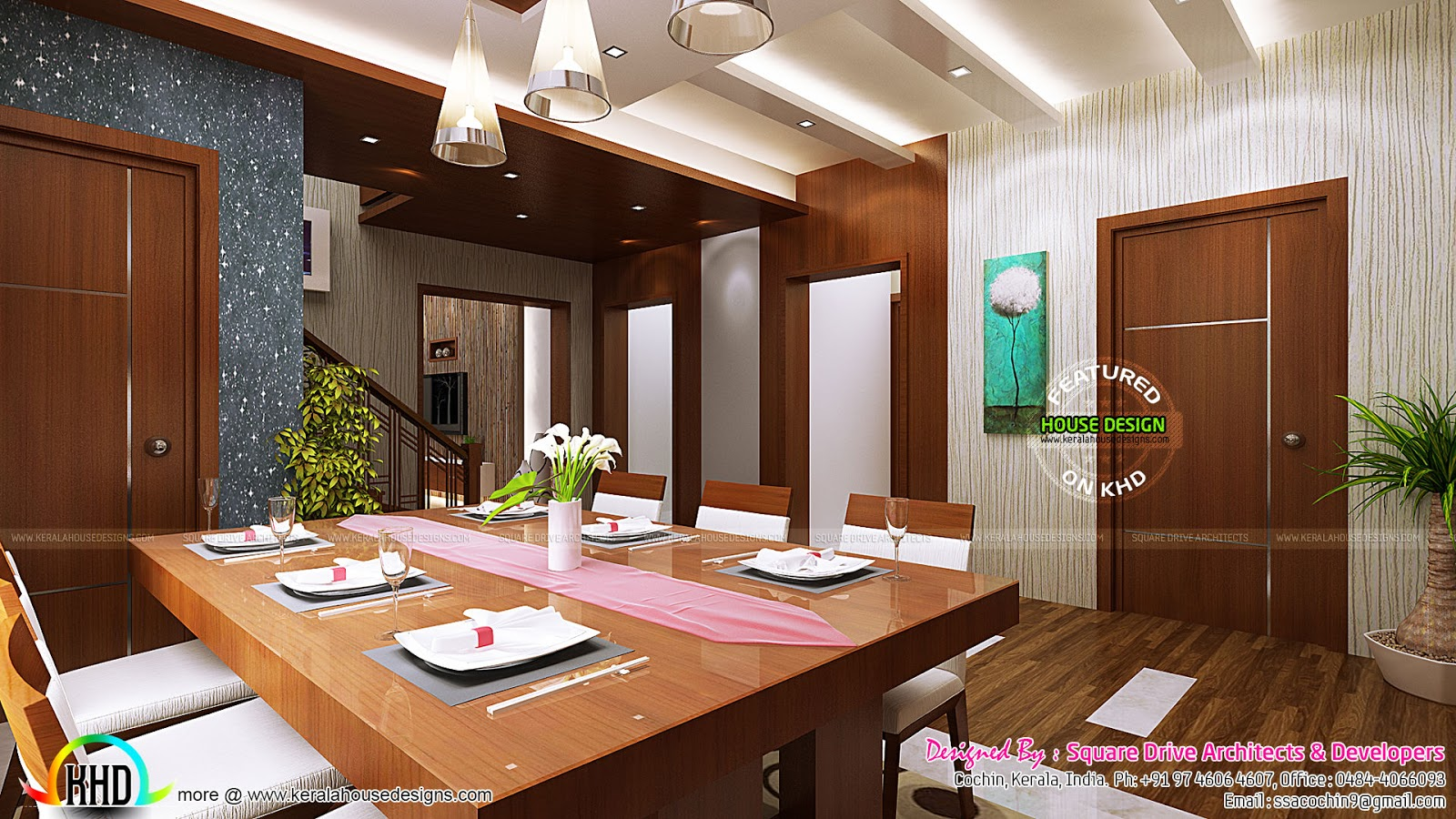 Kitchen and dining room interior ideas kerala home for Other ideas for dining room