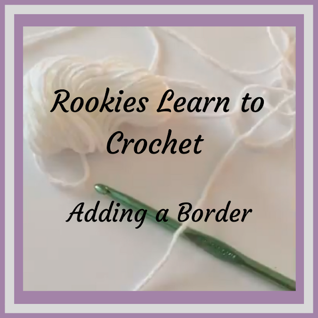 Adding a Crochet Border - (Lesson 3) Rookies Learn Series