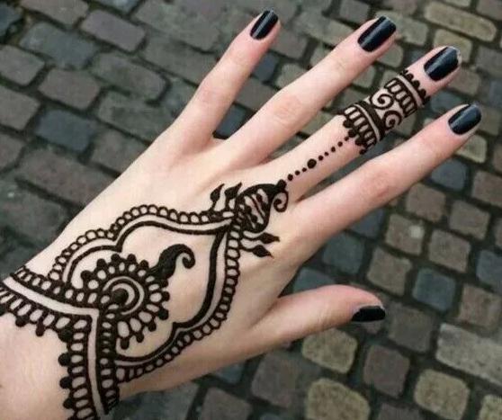 Motif Henna Tangan Sederhana Dengan Motif Hena Bunga Henna Tato