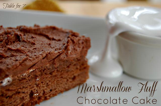 Marshmallow Fluff Chocolate Cake