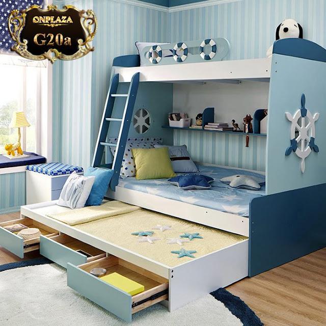 Mẫu giường tầng trẻ em hiện đại ,an toàn và đẹp mắt
