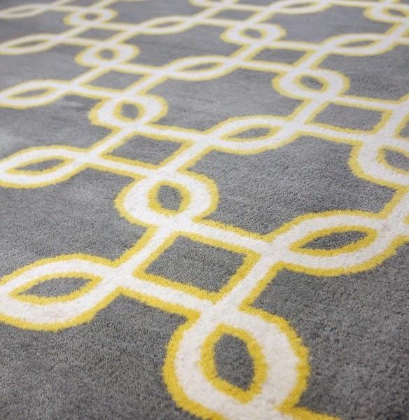 hand-tufted cut pile carpet