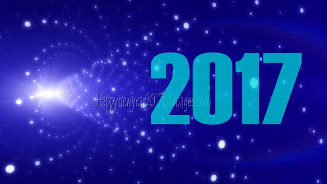 Happy New Year 2017 1080p Pictures With Sparkling Background Free Download