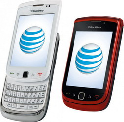 AT&T BlackBerry Torch 9800 in White and Red in time for the holiday season