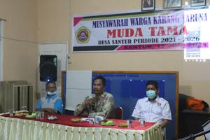 Pembubaran dan Pembentukan Pengurus Karang Taruna Muda Tama Desa Santua