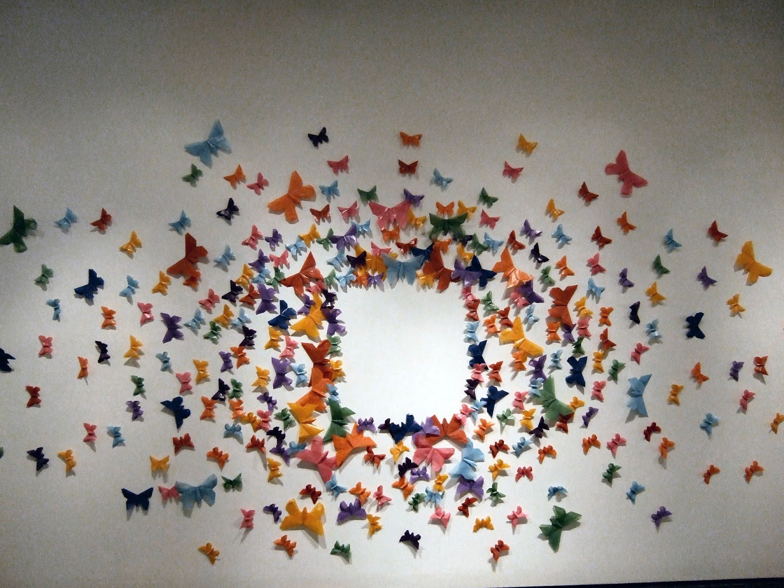 One Is Simplistic And The Other Very Complicated Sculpture Represents History Progression Of Origami Tradition Butterfly Wall Art