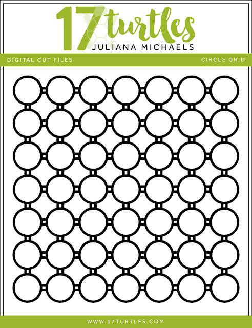 Circle Grid Free Digital Cut File by Juliana Michaels 17turtles.com