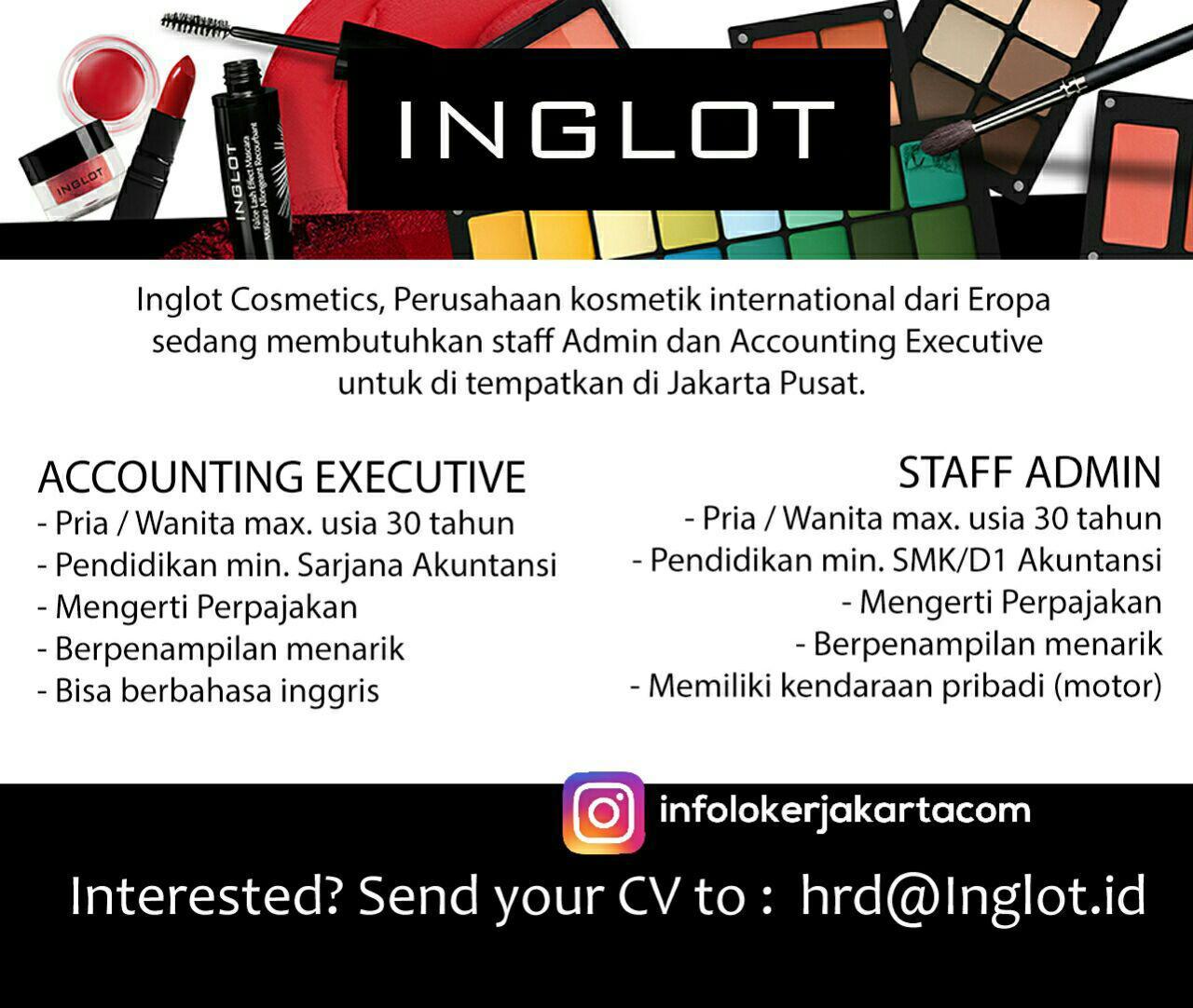 Lowongan Kerja Inglot Cosmetics Jakarta Juli 2017
