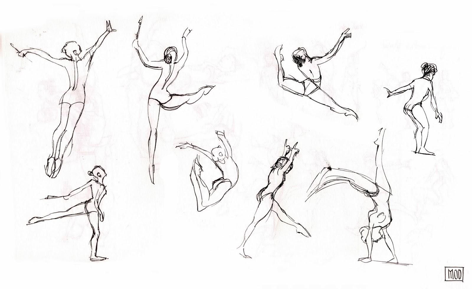 My Own Dump Sketches Rhythmic Gymnastics Poses