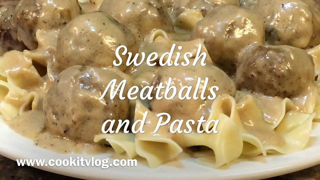 Swedish Meatballs and Pasta Recipe