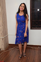 Pallavi Dora Actress in Sleeveless Blue Short dress at Prema Entha Madhuram Priyuraalu Antha Katinam teaser launch 069.jpg