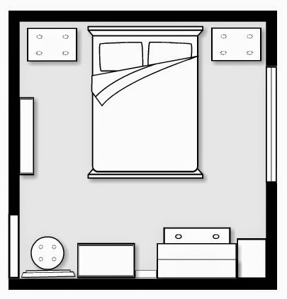 Bedroom layout with furniture setting Interiors Blog