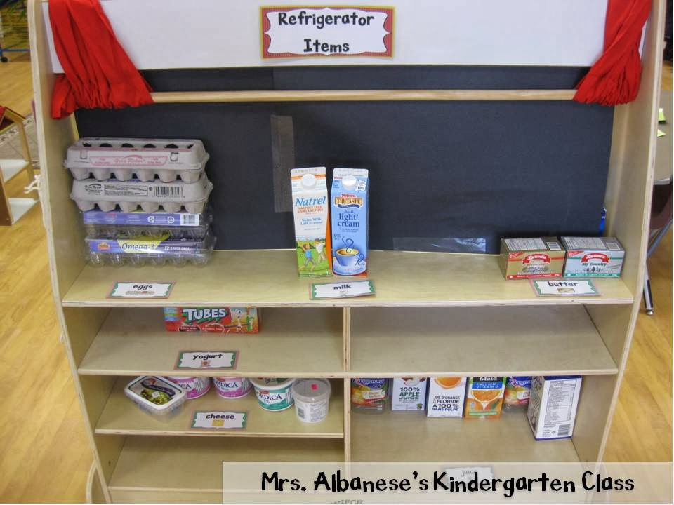 http://www.teacherspayteachers.com/Product/Grocery-Store-Dramatic-Play-Center-1148982