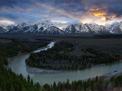 Snake River, Wyoming, before the Grand Tetons