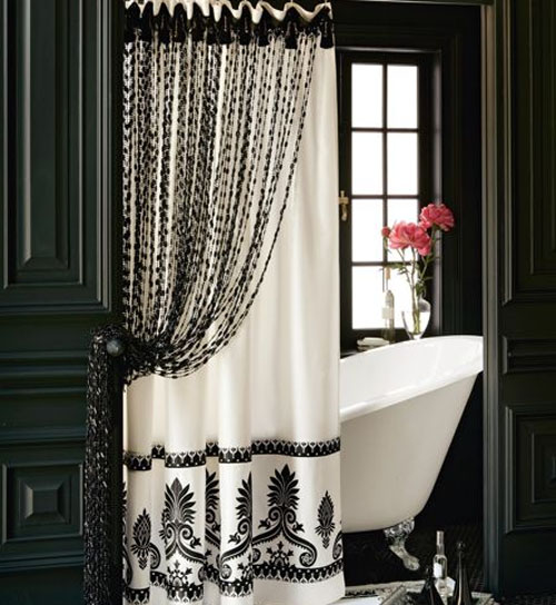bathroom decorating ideas black and white 2017 - Grasscloth Wallpaper