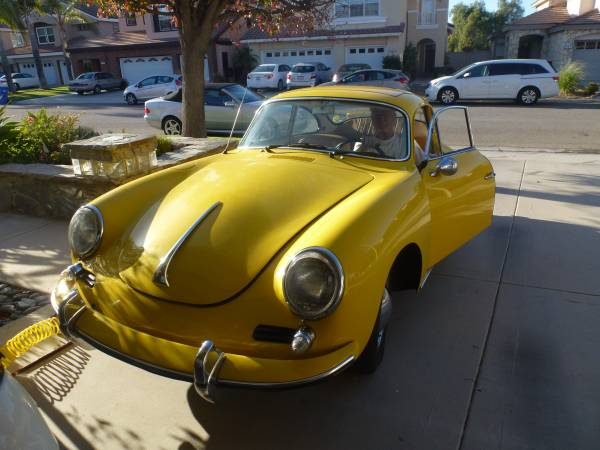 Nice Condition 1963 Porsche 356B Yellow Coupe - Buy ...