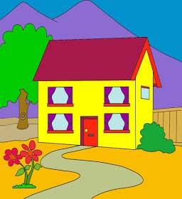 Gambar Rumah Karya Anak SD; Anak ini berbakat sebagai Arsitek
