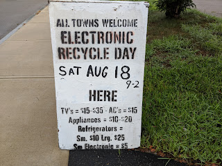 Reminder: Electronics Recycling Event - August 18