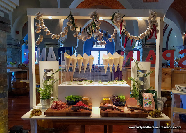 charcuterie in GourMed Brunch The Cove Rotana