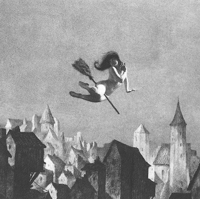 a witch by William Mortensen