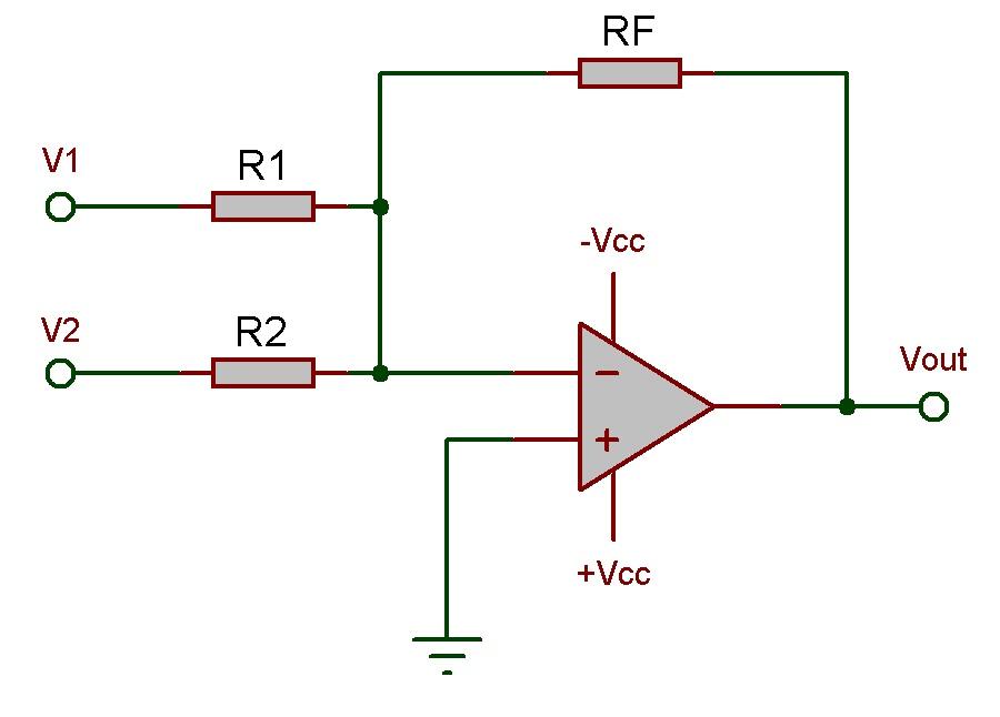 Circuito Operacional : Amplificador operacional somador