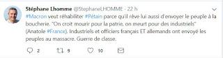 tweet de Stéphane Lhomme